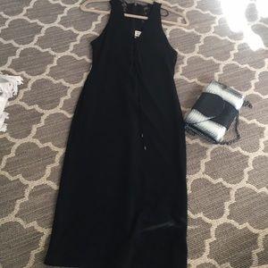 Haute Hippie black midi dress